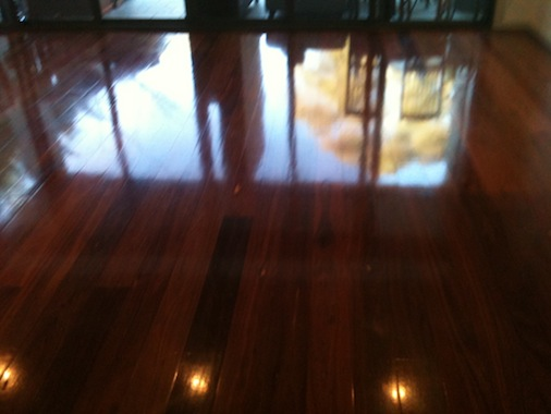 Wood Floor Waxing
