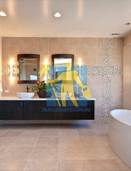 ... Modern Contemporary Bathroom With Floor To Ceiling Porcelain Tiles Perth  ...