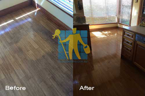 brown timber floor before and after cleaning