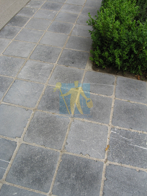 bluestone pavers tumbled small squares dirty