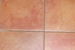 grout colour before sealing by tile cleaners Sunshine Coast