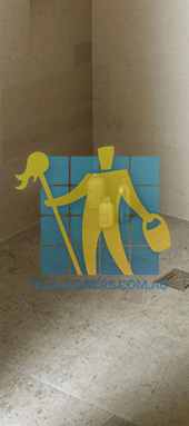 limestone  tiles  shower  moleanos  blue Gold Coast
