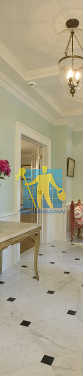 entry hall with new marble tile floor Canberra
