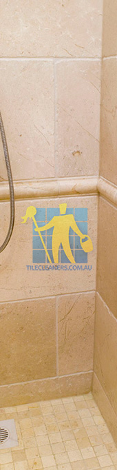 marble tile tumbled acru bathroom shower Adelaide/Burnside