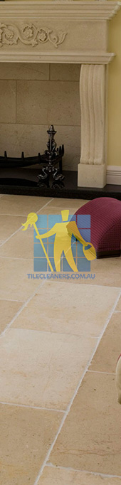 marble tile tumbled acru white grout livingroom Sydney/Upper North Shore
