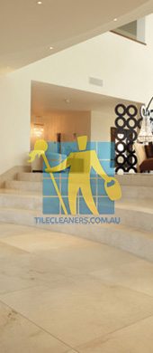 marble tiles floor ema marfil marble tiles and custom made curved steps Brisbane