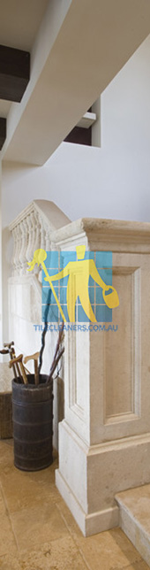 spanish style mediterranean staircase with natural marble tiles porous Perth