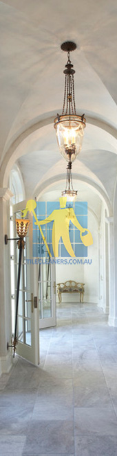 traditional hall with polished marble tiles regular pattern thin grout lines Adelaide/Campbelltown
