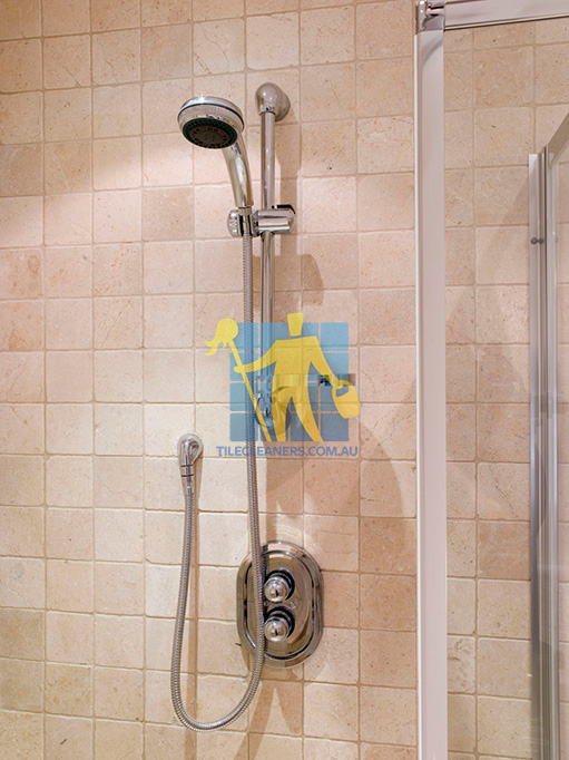 m arble tile tumbled acru bathroom shower 2