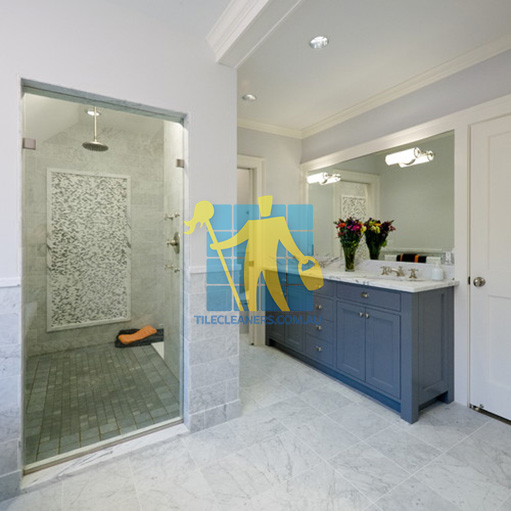 Brisbane marble tiles floor wall bardiglio marble tumbled light with shower