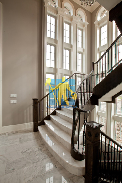 marble tiles traditional stairsway with polished light marble tiles shiny