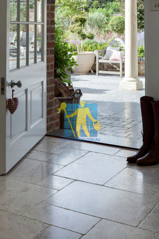 marble tumbled tundra tile entrance
