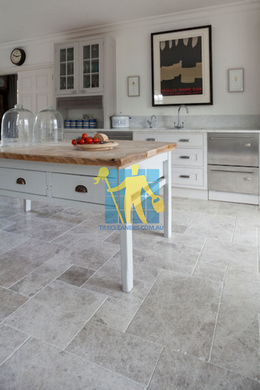 Brisbane marble tumbled tundra tile kitchen