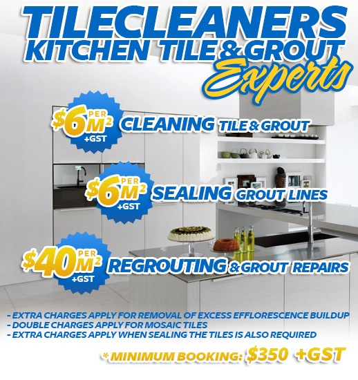 kitchen tile cleaning sealing regrouting Gold Coast