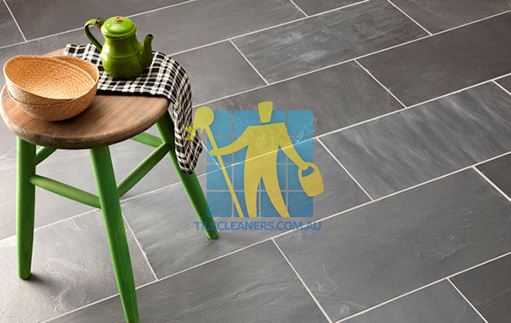 stone tile classic black riven white grout Sydney