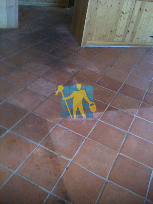 terracotta floor tiles before cleaning Gold Coast