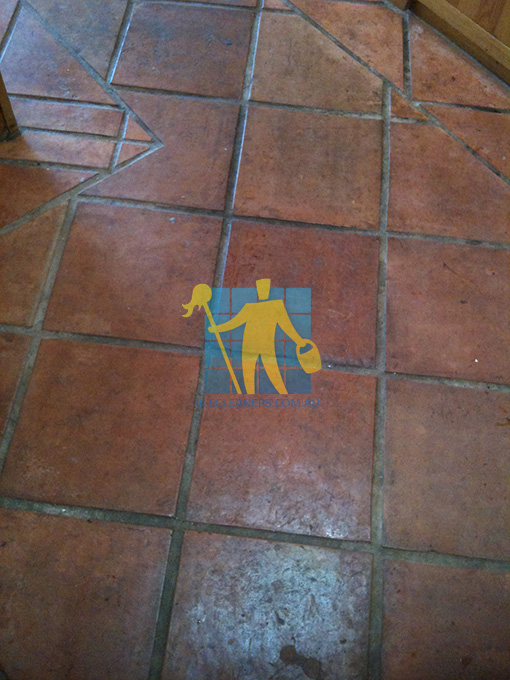 terracotta floor before cleaning Sydney