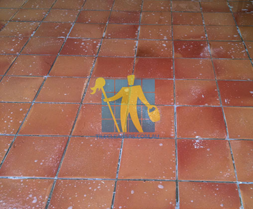 Terracotta Tile Clean Wet Floor