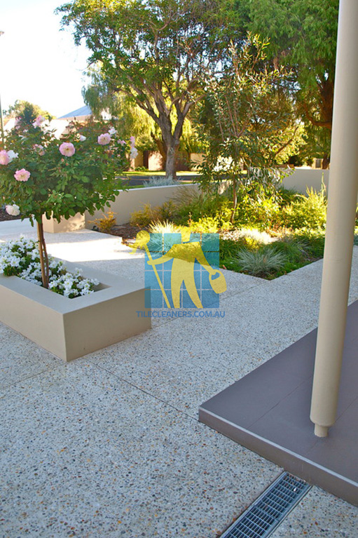 terrazzo contemporary garden and vertical garden feature