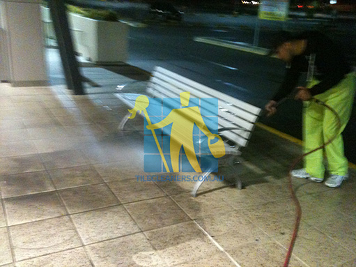 terrazzo tiles outdoors pavement high pressure cleaning Adelaide