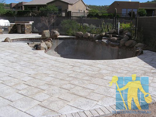 outdoor travertine pavers pool