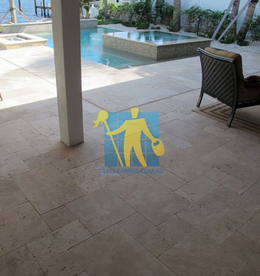outdoor travertine tiles modern pool patio